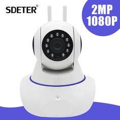 SDETER Full HD 1080 P Inalámbrica Wifi CCTV Cámara de Vigilancia de Seguridad cámara de visión Nocturna Del Monitor Del Bebé de 2 Vías de Audio IP 2MP cámara