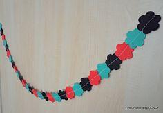 Felt Halloween Garland Felt GarlandFlower by FeltCreationsbyDGNCY Halloween Garland, Crochet Necklace, Felt, Ornaments, Unique Jewelry, Handmade Gifts, Etsy, Vintage, Kid Craft Gifts