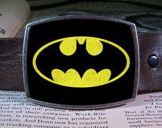 Batman belt buckle from Reganflegan on etsy