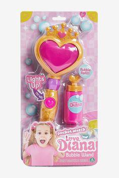 Love, Diana Light-Up Bubble Wand