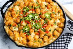 kicked up tater tot hot dish