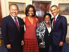 President of Morehouse College, Robert Franklin and his wife with President Obama and First Lady Michelle