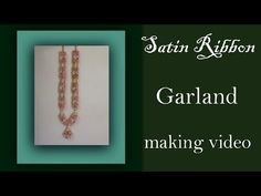 Wedding garland with satin roses tutorial - YouTube