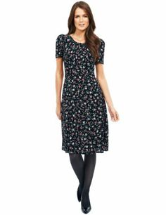 M&S Collection Floral Ruched Tea Dress  Product Code: T420826 £39.50