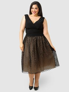 Ruched Waist Dress With Full Skirt by Jessica Howard
