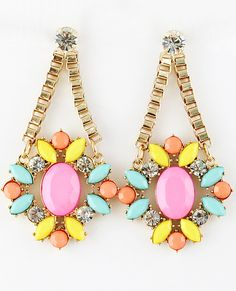 So much fabulous in one pair of earrings.