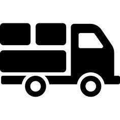 Delivery truck with packages behind free icon