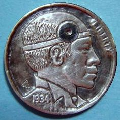 Ralph Perrico - Doctor Ralph Hobo Nickel, Buffalo, Coins, Carving, Art, Art Background, Rooms, Wood Carvings, Kunst