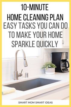 Got 15 Minutes? You can do some quick home clean up with one of these 15 homemaking tasks. Weekly Cleaning Checklist, Deep Cleaning Tips, House Cleaning Tips, Diy Cleaning Products, Spring Cleaning, Cleaning Hacks, Organised Housewife, Clean House Schedule, Organization Hacks