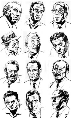 The Art Of Sean Phillips: Reject #37: Twelve Angry Men starring Henry Fonda among others