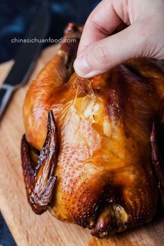 Chinese Roasted Chicken (烧鸡) is part of Chinese Roasted Chicken E A E B A China Sichuan Food - Chinese roasted chicken with soy sauce marinating Duck Recipes, Asian Recipes, Chicken Recipes, Game Recipes, Chinese Chicken, Chinese Food, Chinese Salt, Chinese Desserts, Asian Chicken