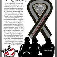 My dad was a corrections officer before he became a patrol cop. Everyone thanks the military, the firemen, EMTs, regular cops, etc. But they all forget about the correctional officer. Correctional Officer Wife, Police Officer Wife, Probation Officer, Department Of Corrections, Police Life, Law Enforcement Officer, Criminal Justice, Thin Blue Lines, Gifts For Office