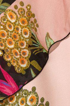 Etro - Ruffled Floral-print Crepe And Silk-chiffon Maxi Dress - Pink - IT44