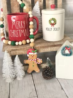 Gingerbread Man, Gingerbread Cookies, Christmas Decorations, Christmas Ornaments, Holiday Decor, Kitchen Themes, Beaded Garland, Tray Decor, Im Not Perfect