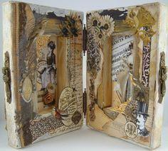 Artfully Musing: Hinged Canvas Book