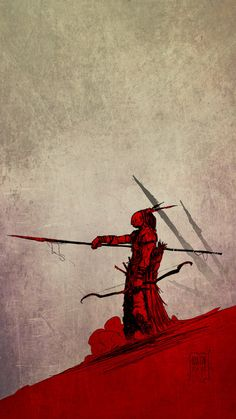 Pret au combat... by PatBoutin on deviantART - --- red and high negative space
