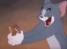 Tom And Jerry Funny, Tom Und Jerry, Tom And Jerry Cartoon, Cute Cartoon Drawings, Cartoon Gifs, Animated Cartoons, Cute Cartoon Wallpapers, Kiss Animated Gif, Hug Gif