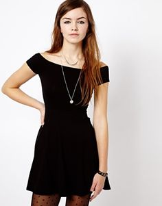 Image 1 of New Look Off The Shoulder Skater Dress