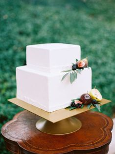 Wedding Cakes  :     Picture    Description  Square fruit topped wedding cake: www.stylemepretty… | Photography: Jon Cu – joncu.com/    - #Cake https://weddinglande.com/planning/cake/wedding-cakes-square-fruit-topped-wedding-cake-www-stylemepretty-photography-jon-cu-j/