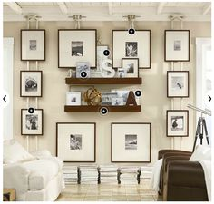 I love this frame display from Pottery Barn