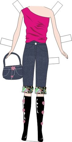 printablecolouringandactivity: Barbie doll and clothes