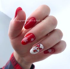 Christmas Manicure, Xmas Nails, Manicure Nail Designs, Nail Manicure, Trendy Nails, Cute Nails, Short Hair With Layers, Summer Acrylic Nails, Short Hair Styles