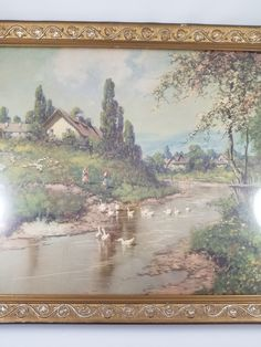 Cottage Art, Artist Signatures, Vintage Wear, Countryside, Paintings, Rustic, Art Prints, Nice, Natural