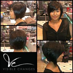Looking for a short and sassy style this fall? Jose did a fab job with this clients hair. Cut My Hair, Her Hair, Hair Cuts, Beauty Tips, Beauty Hacks, Hair Beauty, Bob With Bangs, Long Bobs, Cut And Style
