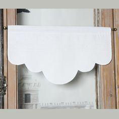 Brise-bise & Cantonnières : Cantonnière arrondie plis lin