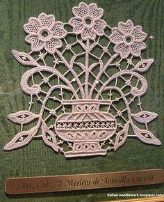 Italian Needle Lace free patterns.