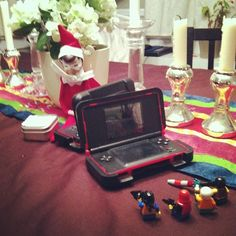 #elftakeover : play date with Lego guys #holiday2013daily Elf on the Shelf