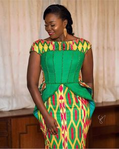Look at this Trendy latest african fashion look African Wedding Dress, African Print Dresses, African Fashion Dresses, African Dress, African Outfits, African Prints, Fashion Outfits, Fashion Ideas, African Fashion Designers