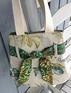Floral Handbag with Shoulder-straps, Floral Purse by OnceUponARoll for $35.00#zibbetflash