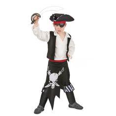 Déguisement pirate garçon Imprimé tête de mort !