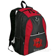 Monogrammed Honeycomb Value Backpack from Marleylilly.com! #monograms #marleylilly #backpack