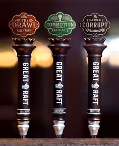 Great Raft Brewing Tap Handles
