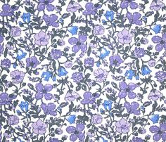 Liberty Fabric Meadow Lilac Purple Blue Grey Floral Tana Lawn Fabric on Etsy, $6.60 AUD