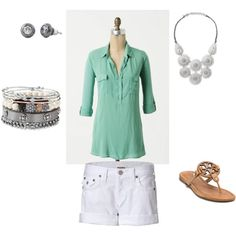 This outfit is great for weekend errands, brunch or going shopping! And love the necklace - perfect for day or night! created by #salimafetter on #polyvore.   www.stelladot.com/salima