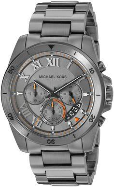 Michael Kors Men's MK8465 Brecken Analog Display Analog Quartz Grey Watch