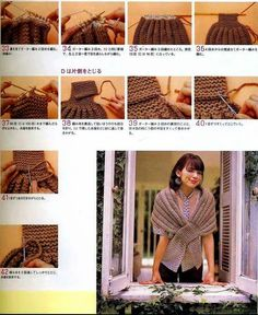 Close Shawl Chal Peak 2 needles Tutorial - Crochet Patterns