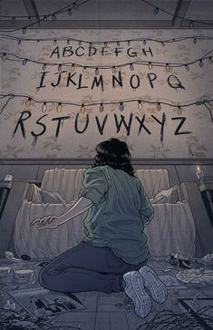 'Stranger Things (RUN)' Poster by -lumossolem- illustrations Stranger Things Tumblr, Stranger Things Netflix, Stranger Things Lights, Stranger Things Upside Down, Film Manga, Illustrator, Animation, Geeks, Tv Series