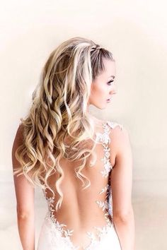 we ❤ this!  moncheribridals.com  #longweddinghair #weddinghair #bridalhair