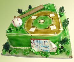 Custom Birthday Cake. Baseball cake. baseball field cake.   Palermo's Bakery creates custom cakes, wedding cakes, birthday cakes, graduation cakes, cake pops, cupcakes, cookies, custom dessert tables and serves the New Jersey/New York Area