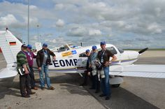 Team AeroPlus participates in Coupe Breitling in France, 2012.  100 aerodromes in 24 hours ...great challenge!