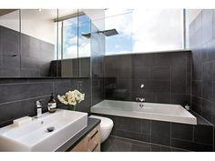 Arabella's Bathroom - tiles & High window
