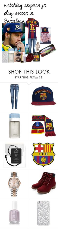 """""""watching neymar jr play soccer in Barcelona"""" by jordonpayne ❤ liked on Polyvore featuring H&M, Dolce&Gabbana, Rolex, Felony Case and Gucci"""