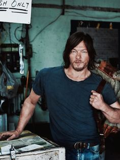 Norman Reedus by Marc Hom