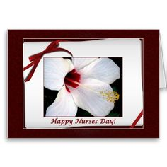 Happy Nurses Day Floral Card.  Don't forget to show your appreciation on Nurses Day.