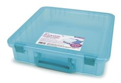 Darice 2025-401 Polypropylene Stackable Craft Paper Storage Organizer with Handle, 14 by 14-Inch, Transparent Teal Darice http://www.amazon.com/dp/B00BYL3P2O/ref=cm_sw_r_pi_dp_58i.wb02340R7