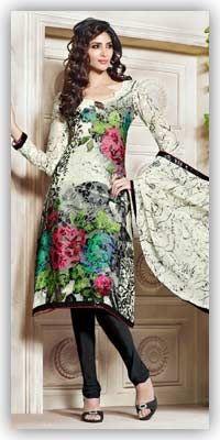 Aristocratic-Cream-&-Black-Printed-Salwar-Kameez-With-Dupatta